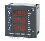 Analyser N14 of  3-phase  network parameters, current input I 5A(X/5), voltage input   u 3x57,7/100 V, DIgital output  RS485, relay output