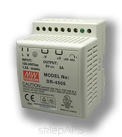 Impulse power supply unit DIN 5V/5A - DR-4505